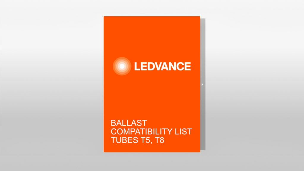 LEDVANCE Compatibilité ballast tubes T5-T8